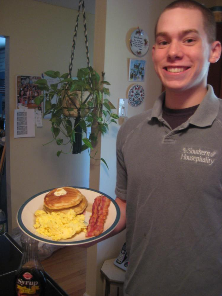 Ben and his breakfast!
